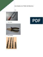 herramientas de taller de mecanica