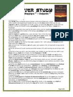 PASSOVER STUDY (SHEMOTH – WAYYIQRA - DEBARIM)