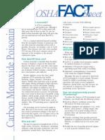 Carbon Monoxide Factsheet