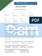 Ejercicios complementarios 4º Matemáticas - Tema 10 - Funciones