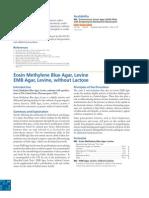 Eosin Methylene Blue Agar