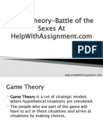 Game Theory-Battle of the Sexes