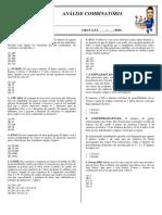 1.2 Revisão Padrão - Análise Combinatória