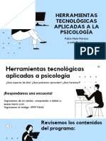 01. Herramientas tecnológicas Aplicadas a la psicología