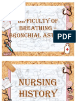 Difficulty of breathing – bronchial asthma