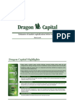 Corporate Presentation_Dragon Capital_Estimates of market capitalization before an IPO