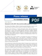 Press Release PACTED