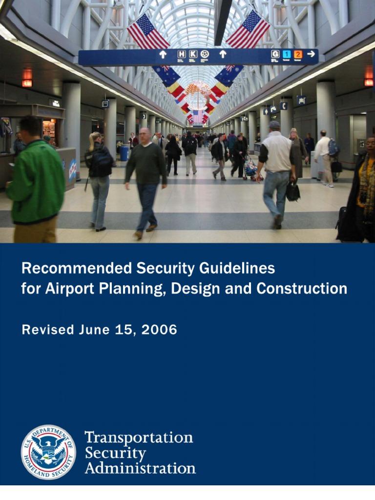Airport Passenger Screening Security Optimisation Manual Guide