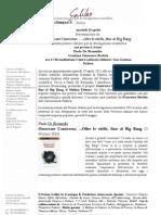 """Comunicato Stampa Galileo 2011 - Presentazione di """"Osservare l'Universo"""""""