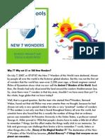 Why 7 Wonders - New 7 Wonders School Resources