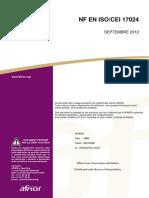 NF EN ISO CEI 17024-2012