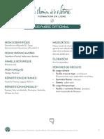 Formation du Cueilleur - Fiche plante - Sisymbre officinal - print