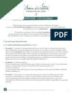 Formation du Cueilleur - Herboristerie -  Les poudres  - print - 01