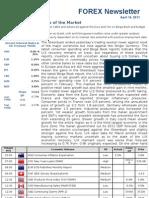 Forex Bulletin, April 14, 2011