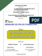 Modélisation Des Indices De Prix Sectoriels  Au Bénin