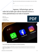 Facebook, Instagram y WhatsApp_ qué se sabe de la falla que afectó durante horas a estas plataformas en todo el mundo - BBC News Mundo