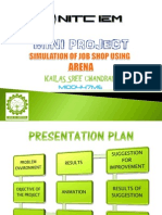 Simulation of Job Shop using Arena - Mini Project PPT