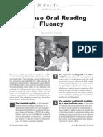 Increase oral reading fluency