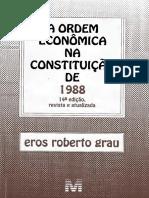 A Ordem Econômica Na Constituição De 1988