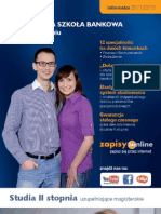 Informator 2011 - Studia II stopnia - Wyższa Szkoła Bankowa w Poznaniu