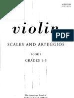 Violin Scales And Arpeggios Book I Grades 1-5 Abrsm Publishing