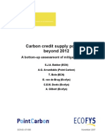 carbon credit supply potential beyond 2012