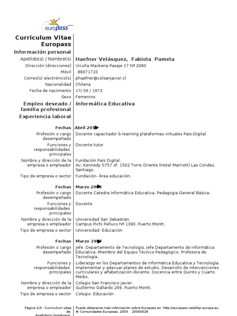 Curriculum Vitae Pamela Haefner