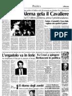 La Padania che parlava di Silvio Berlusconi