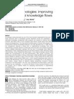 Infosys Technologies improving organizational knowledge flows