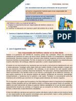 ACTIVIDAD MIERCOLES 29-09-2021 PER.SOC 4TO F ROCIO