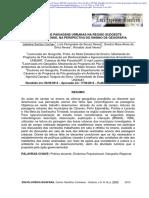 COCHEV, JS Et Al (2013). Leitura de Paisagens Urbanas Na Região Sudoeste Matogrossense