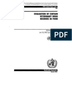 Evaluation of veterinary drugs-report 54