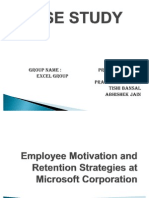Employee Motivation and Retention Strategies at Microsoft Corporation