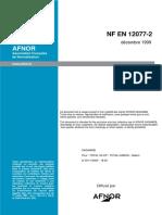 NF EN 12077-2 Limiteurs et Indicateurs