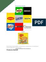 Línea y Mezcla del producto Nestlé