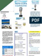 Panfleto de divulgação da Mini Copa Calipolense