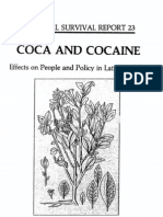 COCA AND COCAINE COCA AND COCAINE Effects on People and Policy in Latin America (CULTURAL SURVIVAL REPORT 23)