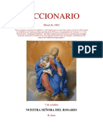 7 de Octubre. Nuestra Señora del  Rosario. Leccionario Misal  1962