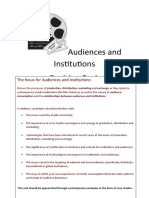 Audiences and Institutions Revision Pack