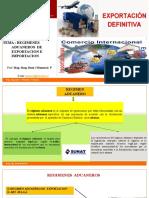 6TA  LECC   REGIMENES   ADUANEROS   DE EXPORTACION  E IMPORTACION