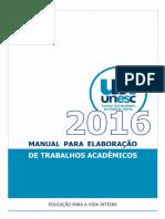 Manual Elaboração Trabalhos Acadêmicos - Unesc