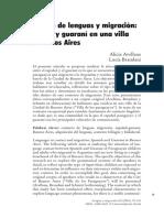 Contacto de Lenguas en Guaraní Villa de Los Paraguayos