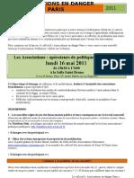 AED 75 - Lt d'invita° RP 16 mai 2011