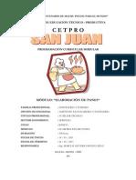 PROGRAMACION MODULO I - ELABORACION DE  PANES