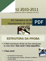 IES SALVATERRAORIENTACIÓN PAAU 2011