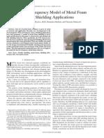 A Wide-Frequency Model of Metal Foam for Shielding Applications