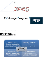eXchange Program Policies (XPP)