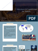 Limportance de Lappretissage Du Francais - Ppt