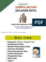 STATISTIK  LINGK- slide IV - Pengumpln n Pengolhn Dt