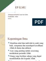 Konsep Ilmu_Muhammad Badrul Amin Bin Saibu_E10A